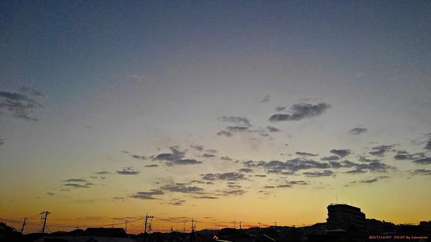 写真: 朝焼け(171107)