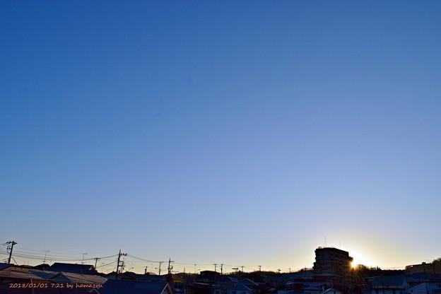 写真: 日の出(180101)