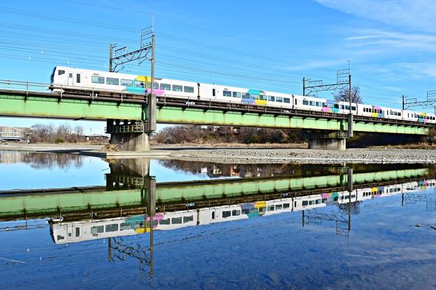 Photos: 川面のあずさ9号