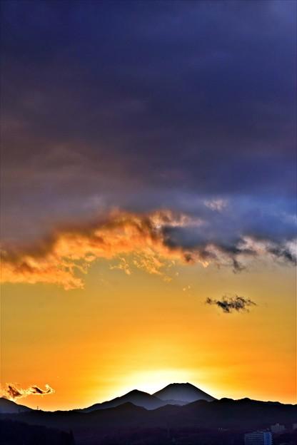 写真: 雲の下