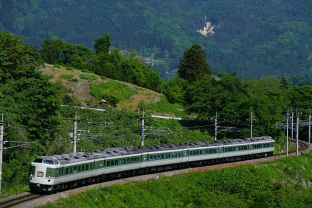 Photos: 189系臨時列車「桔梗ヶ原ワイナリー号」@姨捨公園
