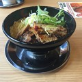Photos: 鶏白湯ラーメン・とりの助の黒油味の鶏がらラーメンの大盛り