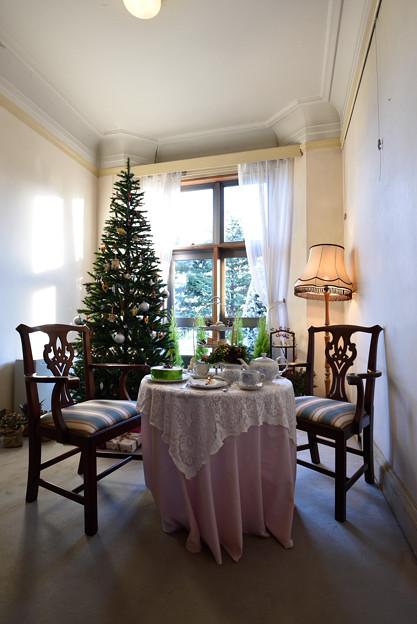 【横浜西洋館:イギリス館のクリスマス飾付】1