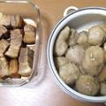 里芋の煮っ転がしと豚の角煮