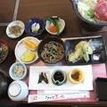 焼肉と蕎麦、篠山黒豆等のお昼
