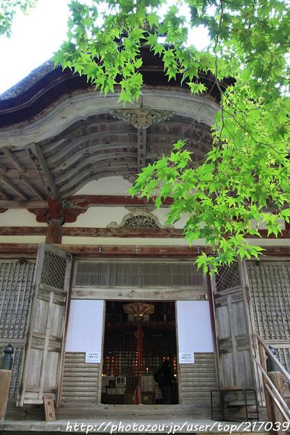 IMG_7122百済寺・本堂(重要文化財)と新緑