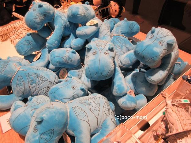 写真: 青カバ ルーヴル美術館ショップ 青カバIMG_0099