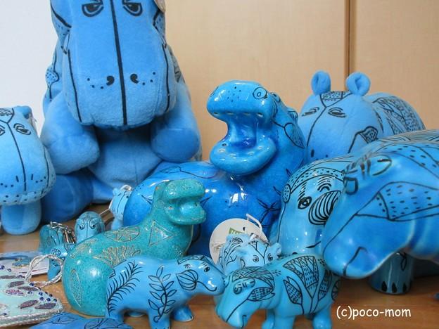 写真: Blue Hippo 青カバ ウィリアム blue hippopotamus