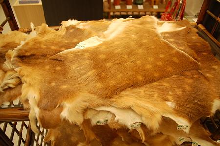 奈良土産鹿の皮