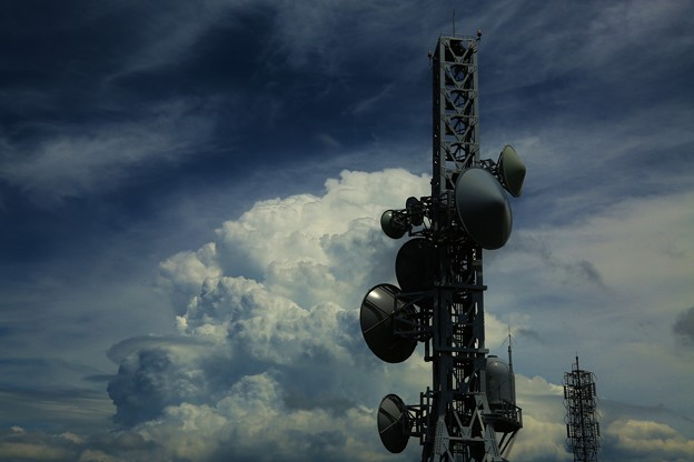 写真: 積乱雲発生