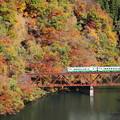 紅葉の只見線3橋