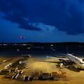 宵闇迫る成田空港