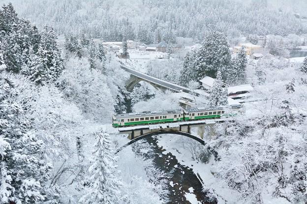 冬色の大谷川橋梁