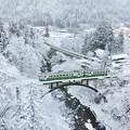 写真: 冬色の大谷川橋梁
