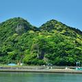 緑色に化粧した岩戸山