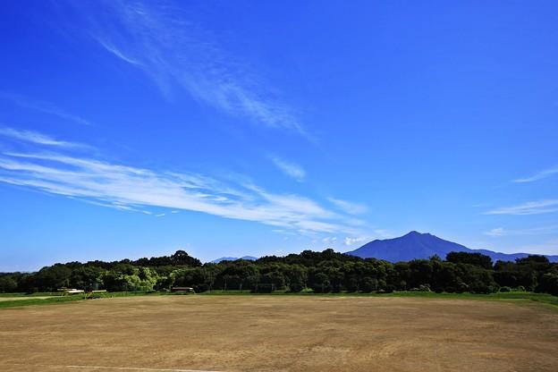 写真: 空と筑波山