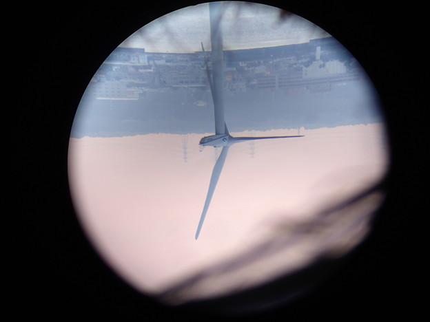 天体望遠鏡で見た風車