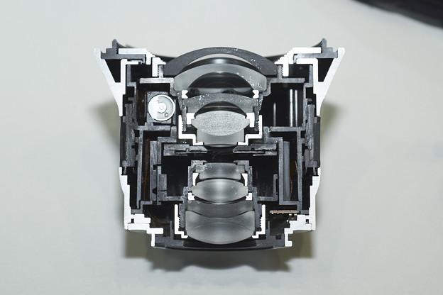 Touit 12mm カットモデル