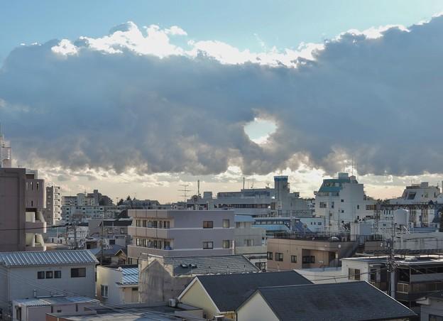 2015.1.23 雲に穴 -1