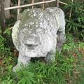狛ライオン 足守神社