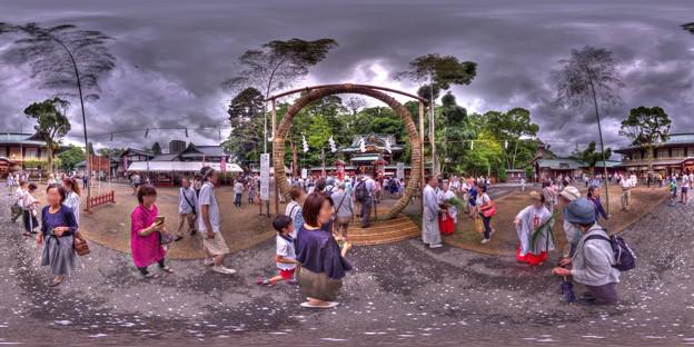 2017年6月30日 静岡浅間神社 茅の輪くぐり 360度パノラマ写真 HDR