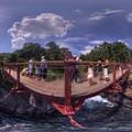城ヶ崎海岸 門脇吊橋 360度パノラマ写真