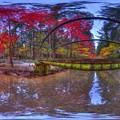 森町 小国神社 紅葉 360度パノラマ写真(4)