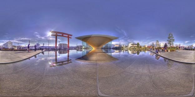 2017年12月23日 富士宮市 静岡県富士山世界遺産センター 360度パノラマ写真(1) HDR