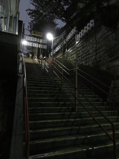 須賀神社前階段下(夜)