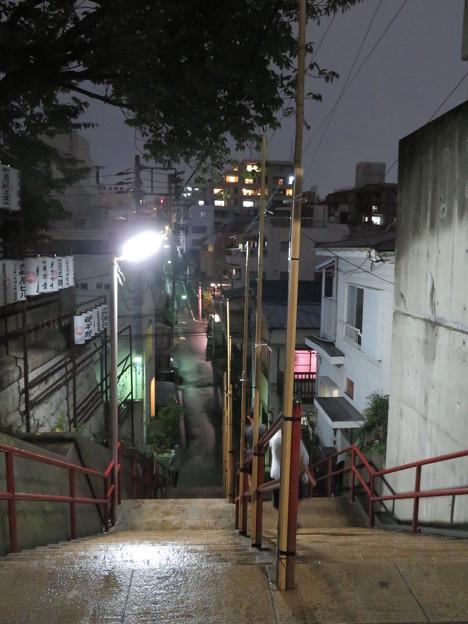 須賀神社前階段上(夜)
