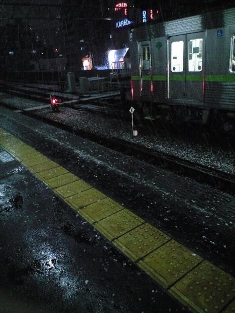 都会にも雪が…