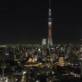 東京スカイツリーと浅草寺、五重塔
