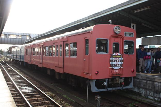 関東鉄道 キハ100形101 100周年ヘッドマーク