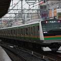 Photos: E233系3000番台E06編成 試8577M 上野東京ライン試運転 後追い