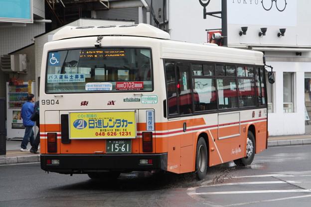 東武バス 9904号車 後部