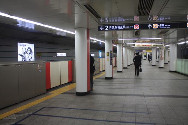 東京メトロ丸ノ内線 赤坂見附駅2番線 ホーム
