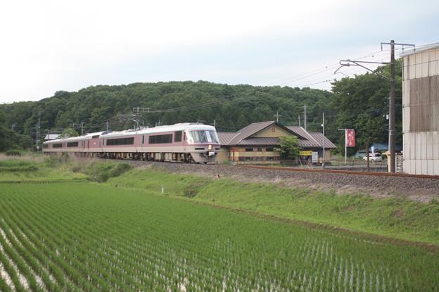 485系リゾートエクスプレスゆう&田んぼ (3)
