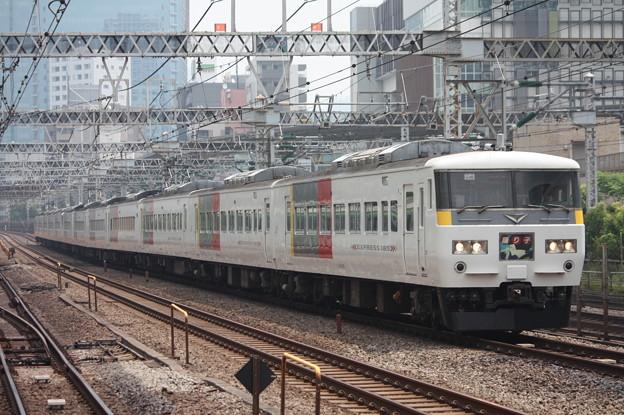 185系200番台OM09編成 Express色 踊り子 (1)
