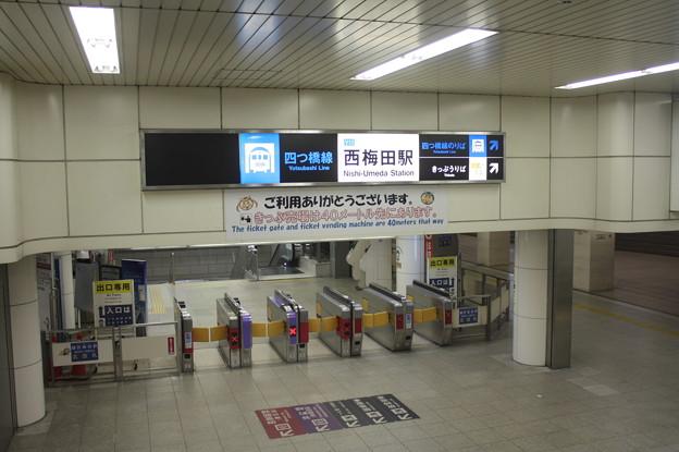 大阪市営地下鉄四つ橋線 西梅田駅 改札口