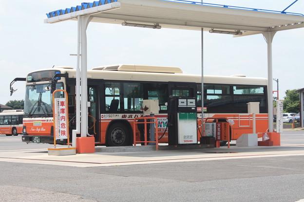 東武バスウエスト上尾営業所 給油所