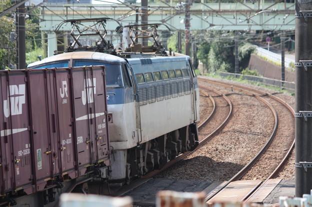 EF66形100番台牽引コンテナ貨物列車