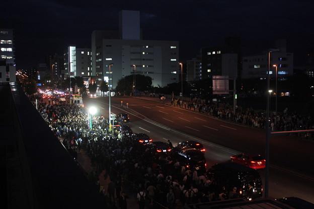 水戸駅南口で行われた安倍首相の街頭演説