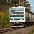 水戸線 E501系K754編成 754M 普通 小山 行 (1)