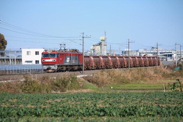 畑の中を行くEH500-14牽引5094レ安中貨物 (4)