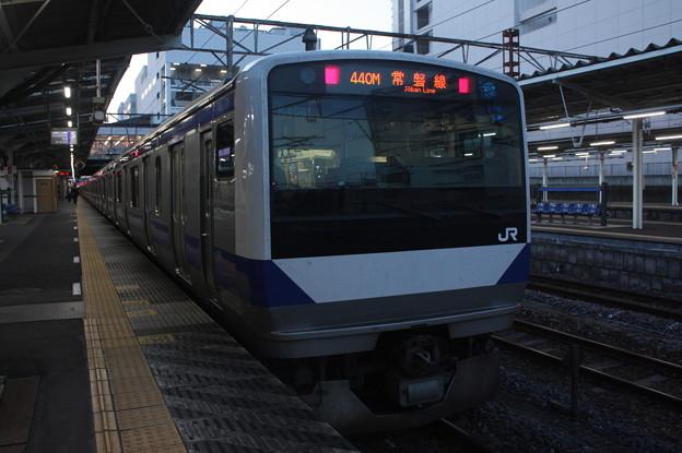 常磐線 E531系K408編成 440M 普通 上野 行