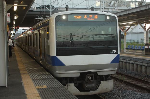 水戸線 E531系K458編成 759M 普通 友部 行