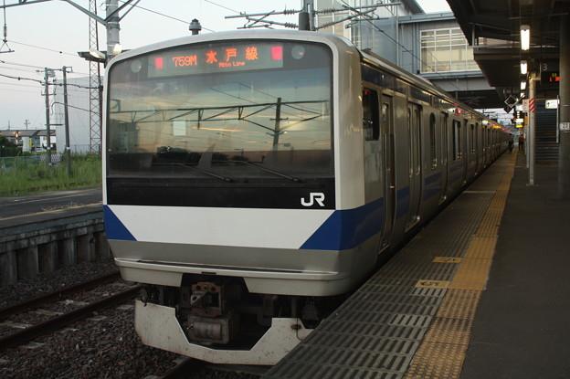 水戸線 E531系K458編成 759M 普通 友部 行 後追い