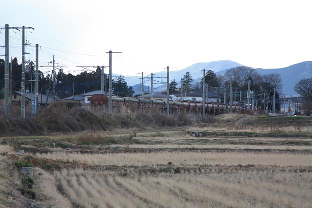 冬の田園風景を行く5094レ安中貨物 (4)