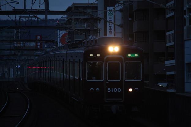 阪急宝塚線 5100系5100F 準急 阪急梅田 行