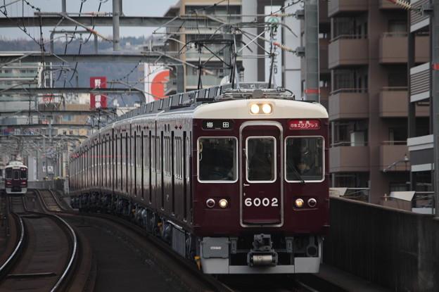 阪急宝塚線 6000系6002F 特急日生エクスプレス 阪急梅田 行